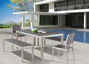 Bộ bàn ghế composite chữ nhật – PA05